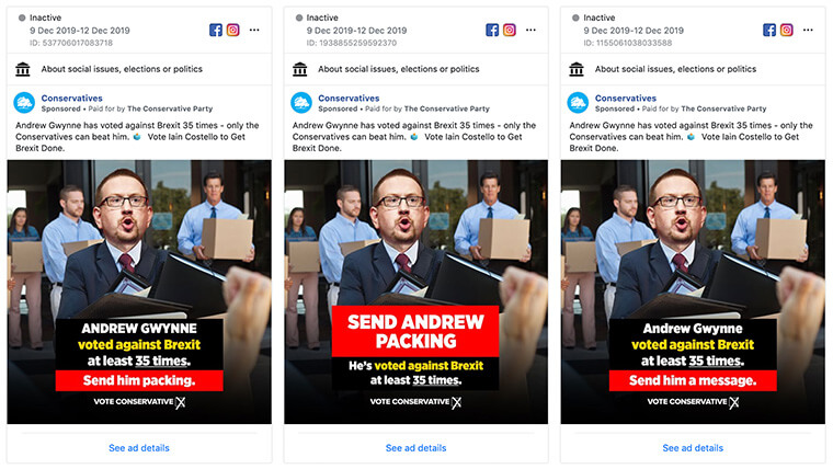 Conservative advert targeting Andrew Gwynne's seat